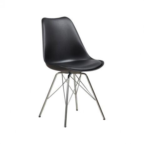 Maze szék, fekete műanyag