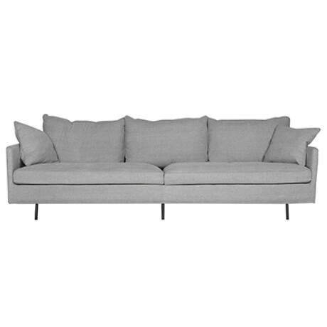 Julia 3 személyes kanapé sötétszürke bársony