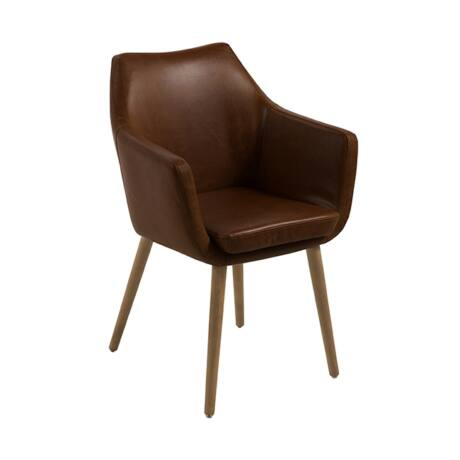 Nora szék, barna szövet