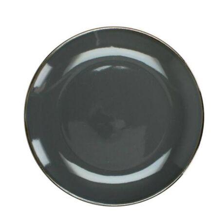 Szürke lapos tányér, kerámia