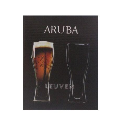Aruba sörös pohár szett, üveg