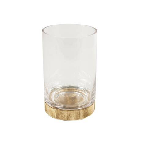 Abington váza, üveg/fa