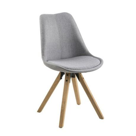 Dima szék, világosszürke szövet