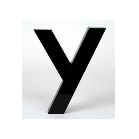 Dekorációs betű Y, fém fém