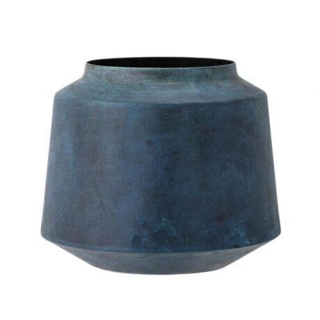 Fém váza, kék   fém
