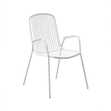 Granville kerti szék, fehér fém