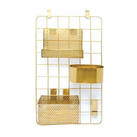 Fali dekorációs tábla/tároló, arany