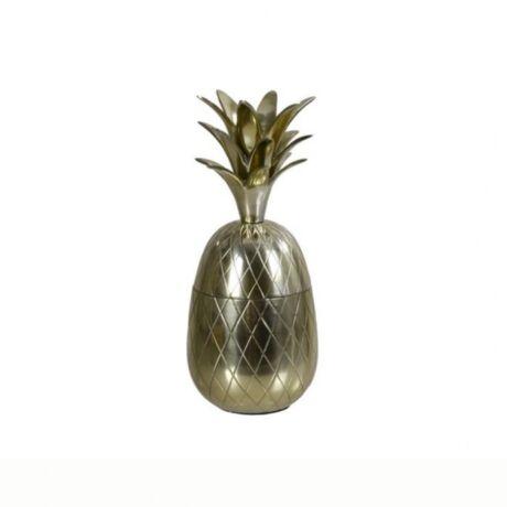 Ananász formájú tároló, Sárgaréz