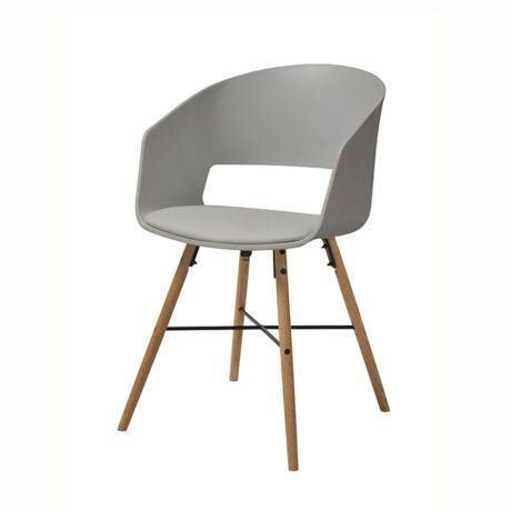 Cai szék, szürke műanyag