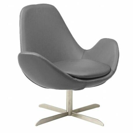 Ghost alacsony fotel világosszürke bőr