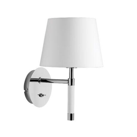 Venice fali lámpa, fehér/króm