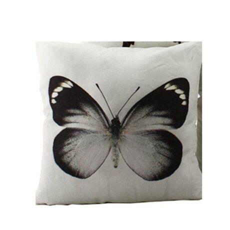 Butterfly 2. díszpárna, fekete/fehér