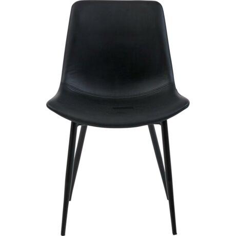 Carolina szék, fekete textilbőr