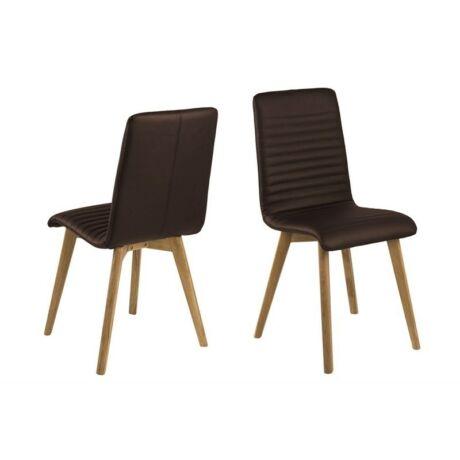 Arosa szék, sötétbarna textilbőr