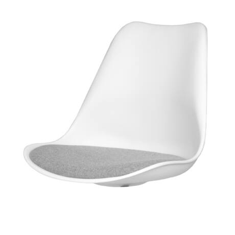 Gina ülőlap, fehér/szürke műanyag