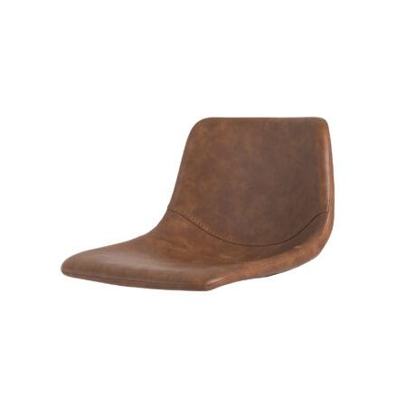 Sam ülőlap, barna textilbőr