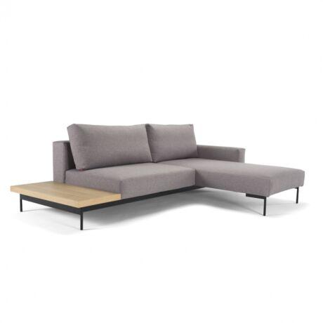 Bragi kanapéágy kisasztallal Világosszürke szövet
