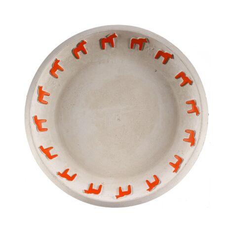 Dala tányér, Szürke/piros