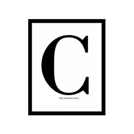 Letter C kép, 40x50cm