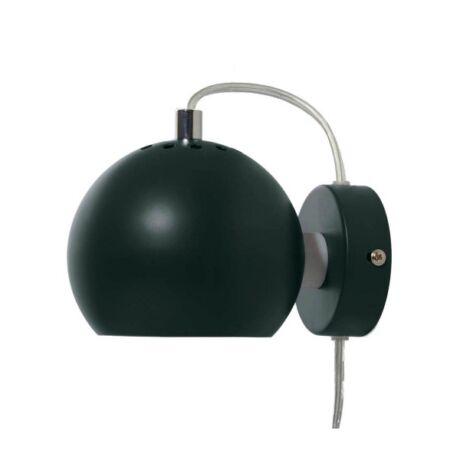 Ball fali lámpa, fenyőzöld fém