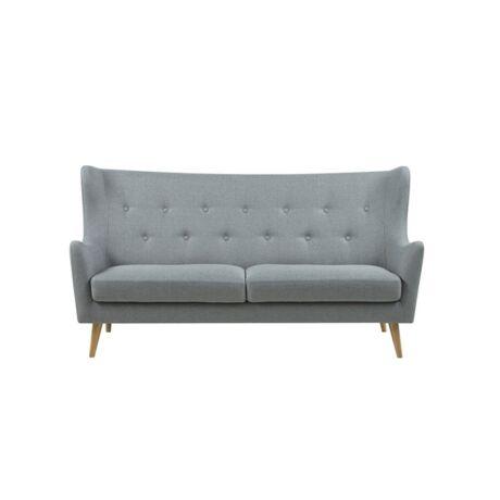 Kamma 3 személyes kanapé Világosszürke szövet