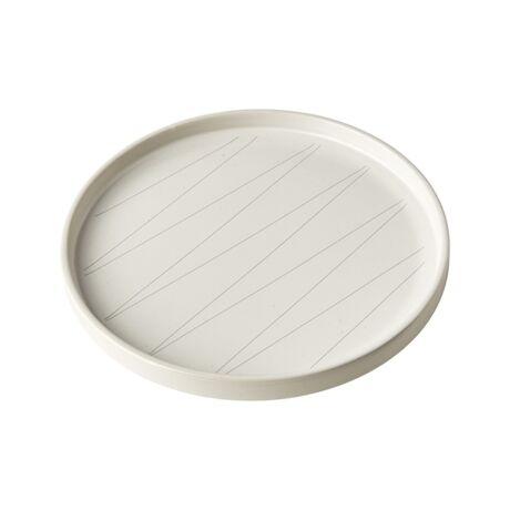 Derris desszertes tányér, fehér/világosszürke kerámia