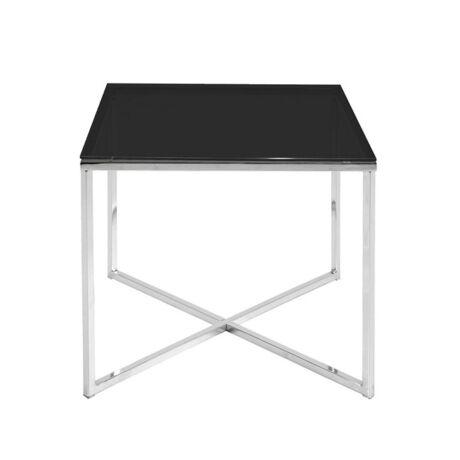 Cross lámpaasztal, fekete üveg