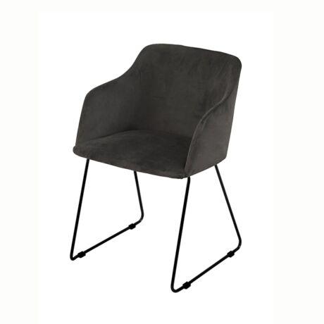 Casablanca karfás szék, antracit bársony