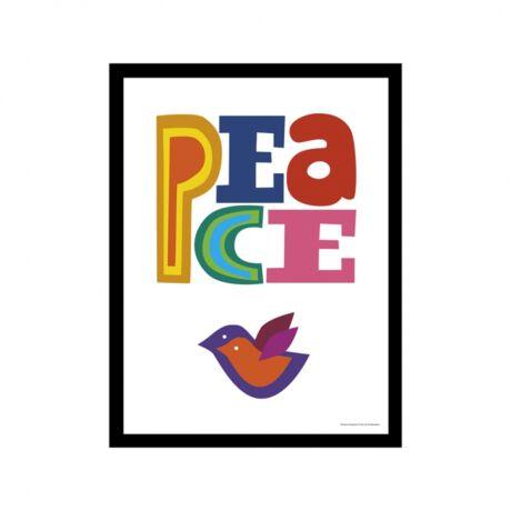 Színes Peace kép,  30x40 cm