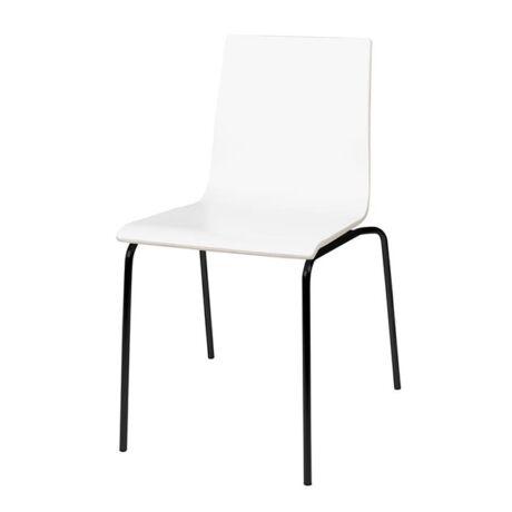 Gaby szék, fehér műanyag
