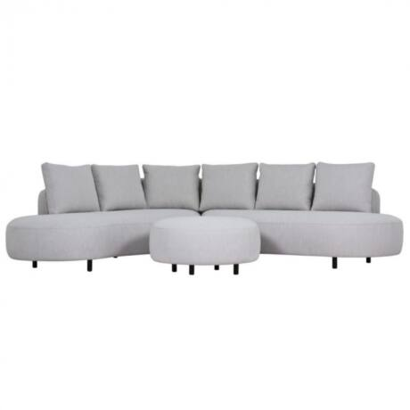 Ample 4 üléses kanapé Szürke szövet