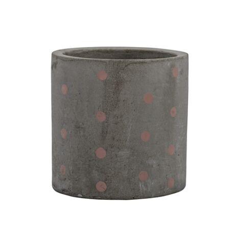 Kaspó szürke, Szürke/Rózsaszín beton