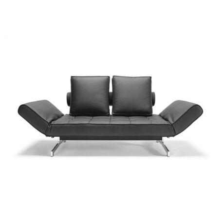 Ghia kanapéágy  Fekete textilbőr