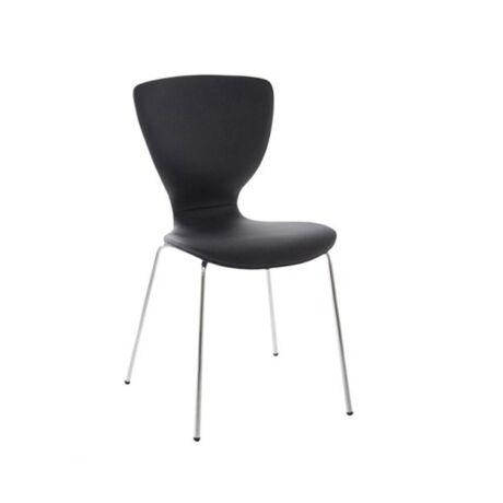 Gongli szék, fekete textilbőr