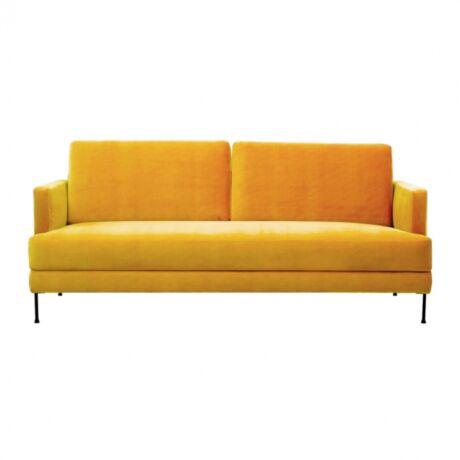 Fluente 3 személyes kanapé Sárga bársony