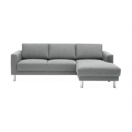Cleveland kanapé jobbos ottománnal szürke szövet