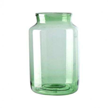 Odalys váza, zöld üveg