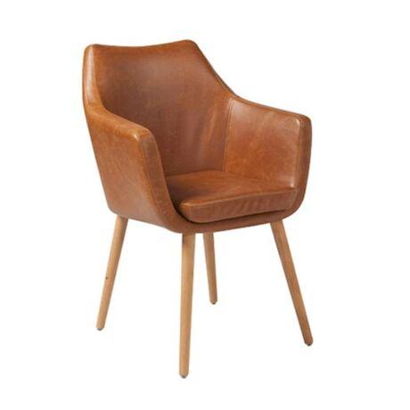 Nora szék, brandy textilbőr