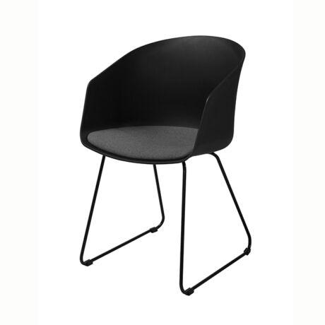 Bogart szék, szürke szövet