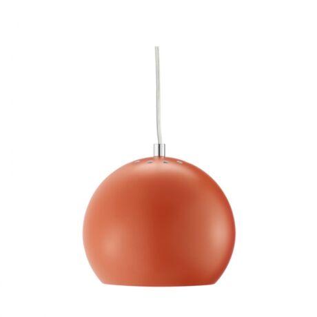 Ball függőlámpa, matt narancs fém