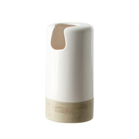 Heyward váza, magasfényű fehér cserép