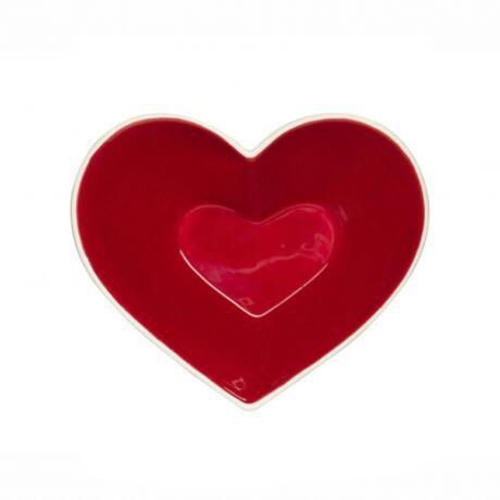 Szív alakú tál, kerámia kerámia