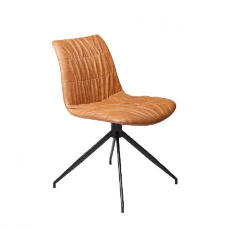 Dazz szék, barna textilbőr