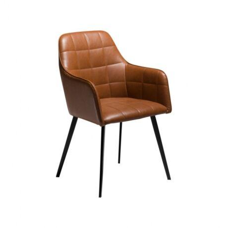 Embrace karfás szék, barna textilbőr