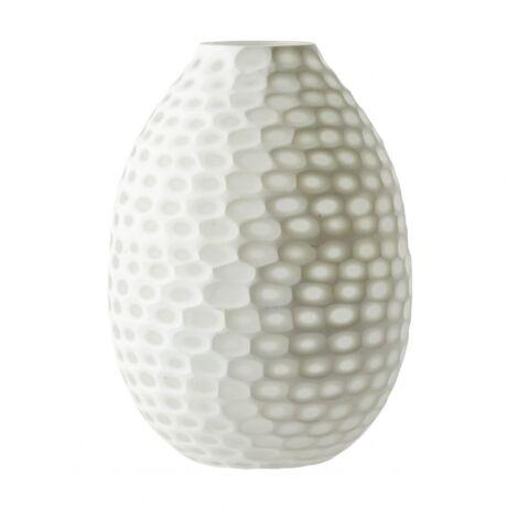 Carnegie váza, matt fehér üveg