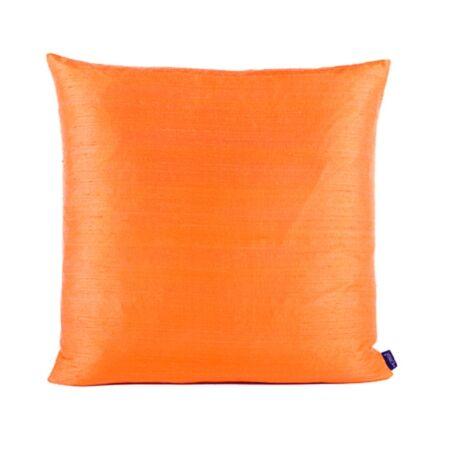 Dupion silk díszpárna, narancssárga selyem