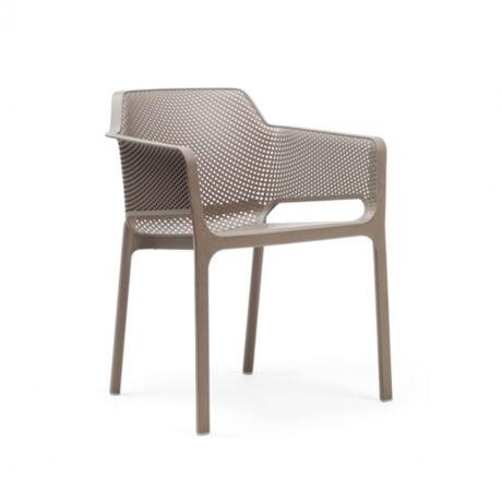NET kerti szék, szürke műanyag