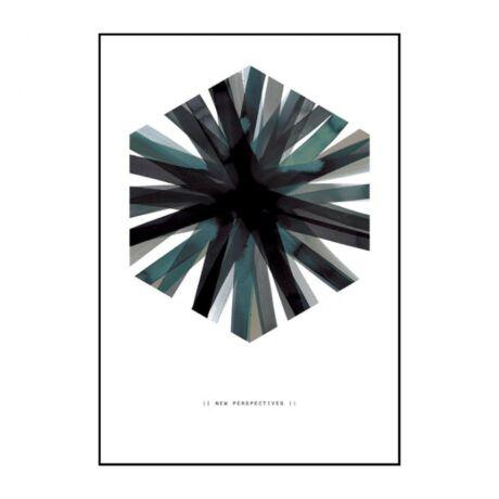 Aquarelle hex kép, fekete, 70x100cm
