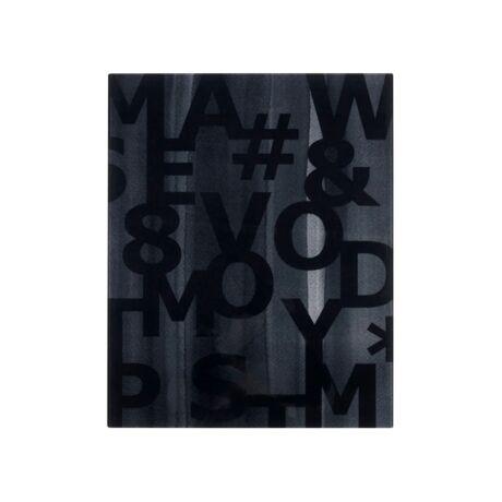 Code fali dekoráció, Fekete/Fehér 40x50 cm