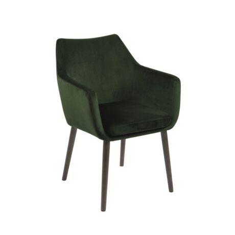 Nora szék, sötétzöld bársony